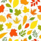 Leaf Fall Seamless Vector Pattern Design