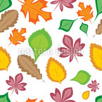 Beauty Of Leaves Seamless Vector Pattern Design
