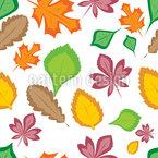 Schönheit Der Blätter Nahtloses Vektormuster
