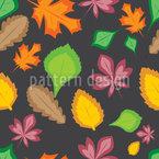 Leichtigkeit Der Blätter Nahtloses Vektormuster