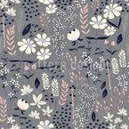 春のガーデンライフ シームレスなベクトルパターン設計