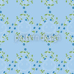 Forget Me Not Blue Seamless Vector Pattern Design