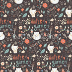 Winter Garden Vector Pattern
