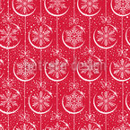 Christmas balls with snowflakes Seamless Vector Pattern Design