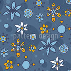 Doodle Flowers And Dots Seamless Vector Pattern