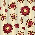 Listras E Flor Design de padrão vetorial sem costura