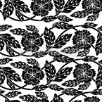 Rococo Bindweed Seamless Vector Pattern Design