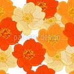 Dornstrauch Blüten Nahtloses Vektormuster