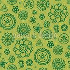 Adorável Fantasia Flores Design de padrão vetorial sem costura