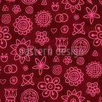 Flores Fantasia Bonito Design de padrão vetorial sem costura