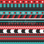 Patchwork Stripes Seamless Vector Pattern Design
