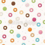 Yummi Donuts  Seamless Vector Pattern Design