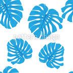 Blaue Blätter Nahtloses Vektormuster