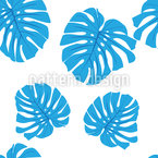 Blue Leaves Pattern Design