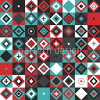 Patchwork Quadrate Vektor Design