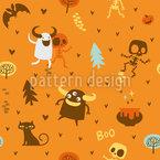 Skelette und Monster Freunde Vektor Muster