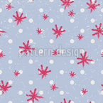 Snowflake Polkadot Repeating Pattern