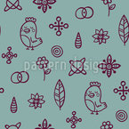 Gli uccelli amano i fiori disegni vettoriali senza cuciture