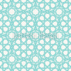 Islamic Star Outlines Seamless Vector Pattern Design