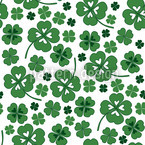 Lucky Clover White Repeating Pattern