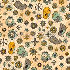 Songbirds In Love Pattern Design