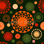 Circle Lace Seamless Vector Pattern Design