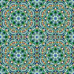 Marokko Hexagon Nahtloses Vektormuster