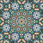 Marokkanisches Hammam Nahtloses Vektormuster