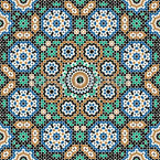 Moroccan Hammam Seamless Vector Pattern Design