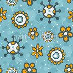 花落書きの空 シームレスなベクトルパターン設計