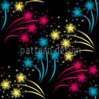 Fireworks Seamless Vector Pattern Design
