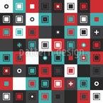 Лоскутная сетка Бесшовный дизайн векторных узоров