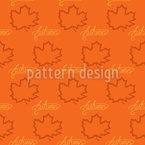 Ahornblätter im Herbst Designmuster