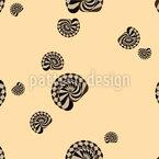 Conchas de Caracol Design de padrão vetorial sem costura