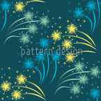 Falling Stars Seamless Vector Pattern Design