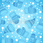Winter Socks and Hats Seamless Vector Pattern Design
