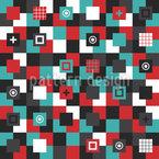 Пэчворк квадратные формы Бесшовный дизайн векторных узоров