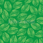 Hand Printed Leaves Pattern Design