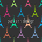 Eiffel Tower At Night Repeating Pattern