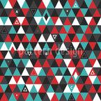 Современные лоскутные треугольники Бесшовный дизайн векторных узоров