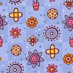 Niedliche Blumenzeichnungen Nahtloses Muster