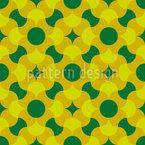 レトロなファンタジーの花 シームレスなベクトルパターン設計