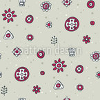 Geometrical Flowers Repeating Pattern