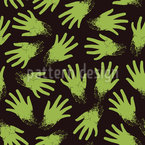 Spooky Zombie Hands Repeat Pattern