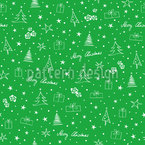Small Christmas Illustrations Pattern Design