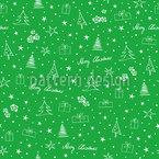 Ilustrações de Natal pequenas Design de padrão vetorial sem costura