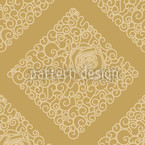 Sleeping Beauties Gold Seamless Vector Pattern Design
