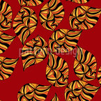 Ethno Leaves Seamless Vector Pattern Design