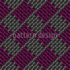 Square Knitting Seamless Pattern
