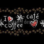 Kaffeeliebhaber Nahtloses Vektormuster
